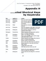 Appendix H Selected Shortcut Keys by Keystroke