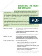 Choosing Right Air Outlets