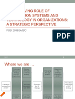Chp-01 the Evolving Role of is and Technology in Organizations - A Strategic Perspective