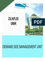 Demand Side Mangement by en. Zulkiflee Umar