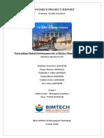 Economics project on forecasting.