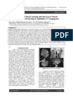Determination with Deep Learning and One Layer Neural Network for Image Processing in MultiSlice CT Angiogram