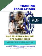 TRCNC Milling Machine Operation NC II