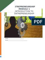 Entrepreneurship Module 1