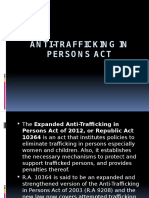 Anti-trafficking in Persons Act Report
