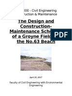 Groyne Field Design for No. 63 Beach