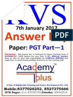 KVS PGT Part-1, Answer Key