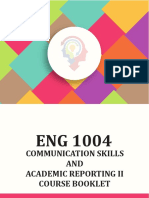 Eng1004 Course Booklet