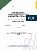 Informe Consolidación de Deuda