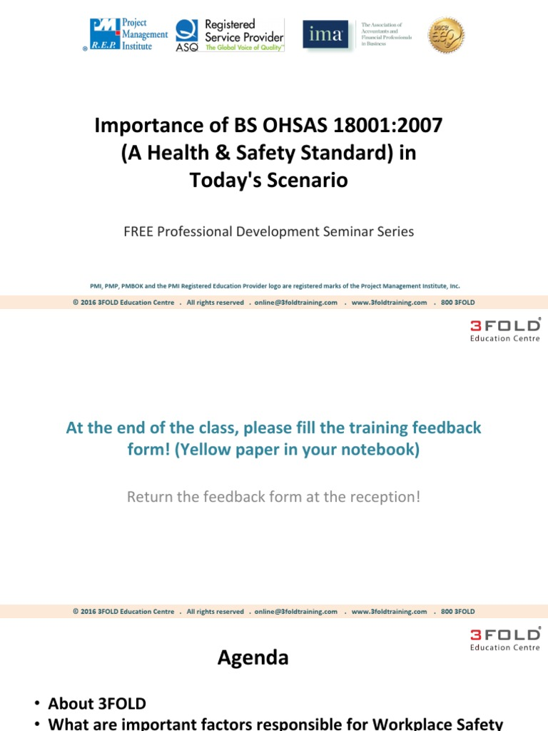 Importance of BS OHSAS 18001-2007 | Risk Assessment | Personal Protective  Equipment