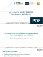 ISO 9001 and ISO 14001 Changes and Challenges