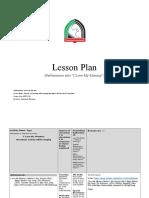 performing arts lesson plan