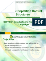Module 5 - Repetition Control Structure