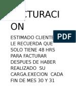 Facturacion Isa