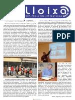 LLOIXA. Número 124, novembre/noviembre 2009. Butlletí informatiu de Sant Joan. Boletín informativo de Sant Joan. Autor