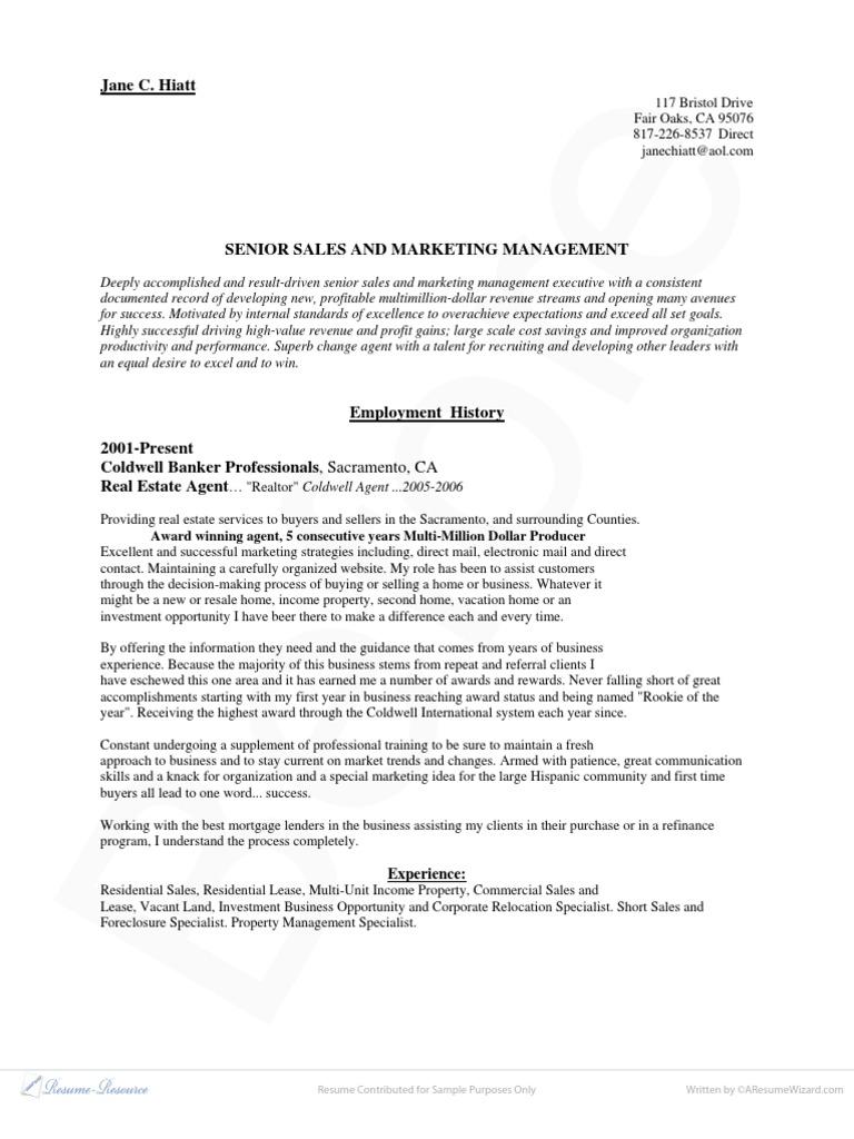 ba ex03 real estate broker sales - First Time Realtor Resume