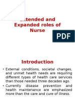 Extended and Expanded Roles of Nurse
