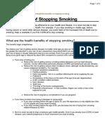 Benefits of Stopping Smoking