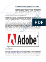 Adobe Acrobat Professional Course Training
