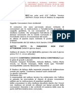 2007 15 Giugno Portobello Sindaco Cimitero Tomba Getilizia a c.e. 22 Cardinale Orazio Istanza 30.05.06 1405 Lotto 36 a Ctu d'Arpa Valguarnera