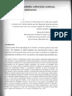 Cummins Formas de Las Ciudades Coloniales Andinas, Libre Albedrío y Matrimonio