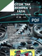 Motor Tak Serempak 3 Fasa