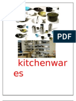 Project on  kitchenwares