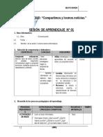 SESIONES DE APRENDIZAJE DEL PROYECTO 6° - ABRIL.docx