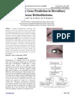 Susceptibility Gene Prediction in Hereditary Disease Retinoblastoma