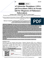 A Correlation of Adenosine Deaminase (ADA) Activity and Lipid Peroxidant (MDA) in Serum and Pleural Fluid for Diagnosis of Pulmonary Tuberculosis