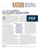 On Immigration, the President Speaks Softly, Cato Immigration Reform Bulletin No. 4