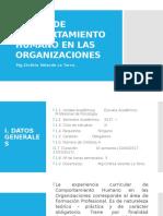 Sílabo de Comportamiento Humano en Las Organizaciones