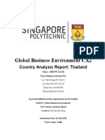 Country Analysis Thailand - Global Business Environment