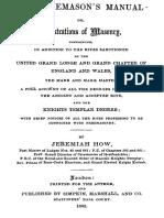 The Freemasons Manual