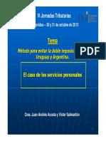 Evitar La Doble Imposición Entre Uruguay y Argentina J Acosta v Salmantón