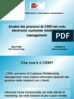 analisi dei processi di CRM nel web:electronic customer relationship management
