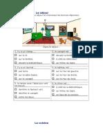 Maison Pieces Prepositions
