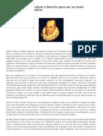 Los Consejos Del Quijote a Sancho Para Ser Un Buen Gobernador de Barataria