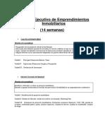 Programa Ejecutivo de Emprendimientos Inmobiliarios