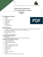 Requisitos Mínimos y Parámetros Para