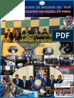 Resumen Ejecutivo Memoria de Gestión Del CBP CRXV 2013-15