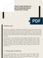 Pengendali  Motor Dc Dengan Pid Metode Root Locus