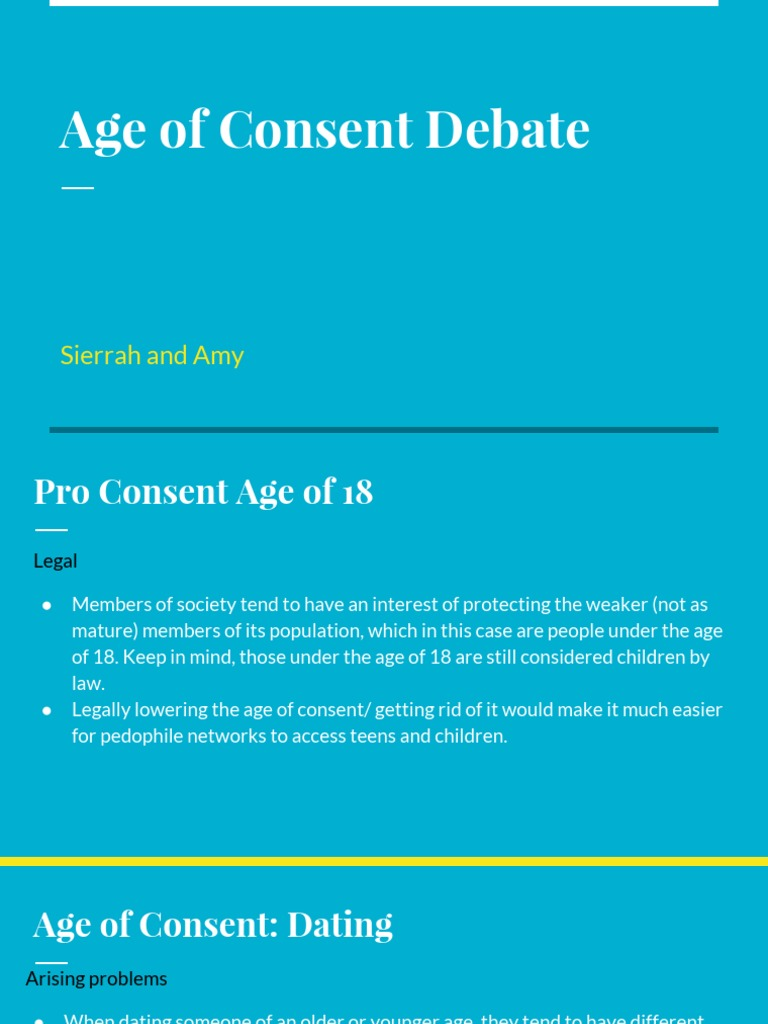 legal age of consent for dating