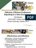 Rowan Effective Efficient Professors