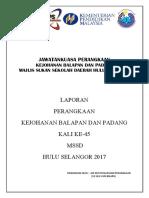 Perangkaan Kejohanan Padang Dan Balapan Daerah H. Selangor 2017