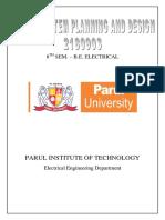 L. Lab Manual - PSPD (2180903)