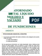 Fundiciones y Moldajes II ICM