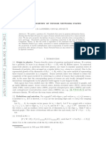 On the Geometry of Tensor Network States
