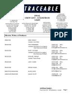 Untaceable - FINAL Crew List