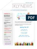 weekly newsletter- may 8- may 12